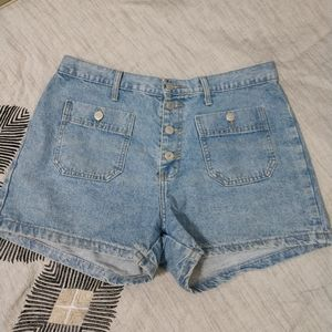 Vintage High Rise Button Fly Shorts size 13/14